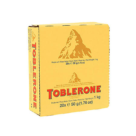Toblerone Milk Chocolate Bar (1.76 oz., 20 ct.)