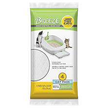 Tidy Cats BREEZE Cat Pads Refill for Multiple Cats (4 ct. Pouch)