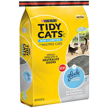 Tidy Cats Non Clumping Cat Litter With Glade 50 Lbs