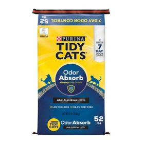 Tidy Cats Non-Clumping Cat Litter for Multiple Cats (52 lbs.)