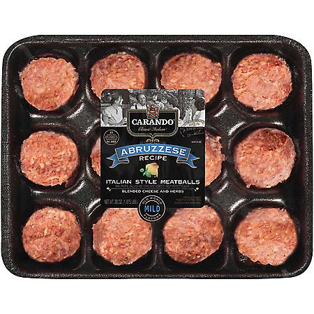 Carando Abruzzese Italian Style Meatballs, Mild (1.875 lbs.)