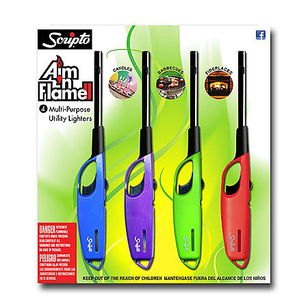 Scripto Aim n Flame II 4-Pack
