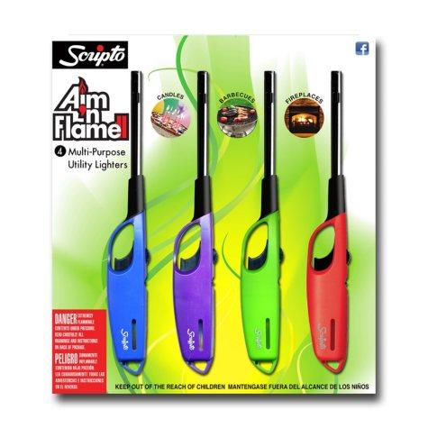 Scripto Aim n Flame II 4-Pack