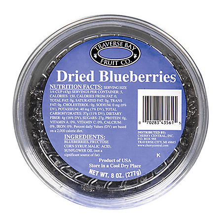 Traverse Bay Dried Blueberries (8 oz., 12 pk.)