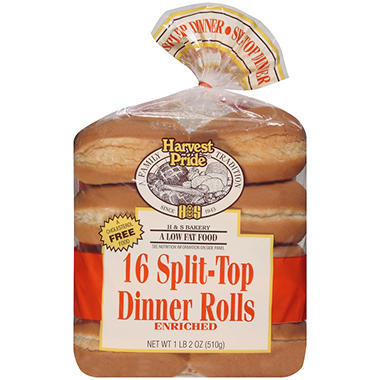 Harvest Pride Split-Top Dinner Rolls - 16 pk.