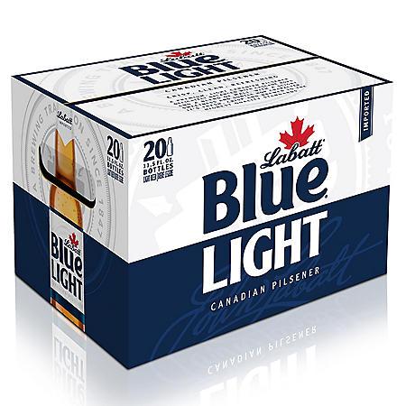 Labatt Blue Light Beer (11.5 fl. oz. bottle, 20 pk.)