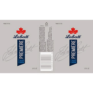 Labatt Premiere Extra Light Lager (12 fl. oz. bottle, 12 pk.)