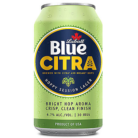 Labatt Blue Citra Hoppy Session Lager (12 fl. oz. can, 15 pk.)