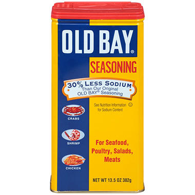 Old Bay 30% Less Sodium Seasoning (13.5 oz.)