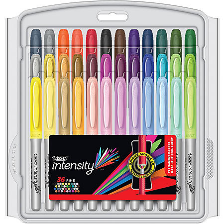 BIC Marking Fine Tip Permanent Marker, Assorted Colors, 36ct.