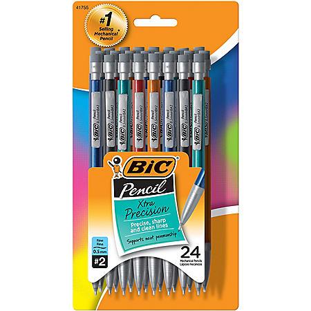 BIC® Xtra-Precision Mechanical Pencil, 0.5mm, Assorted Color Barrels, 24pk.