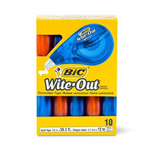 "BIC® Wite-Out EZ Correct Correction Tape, Non-Refillable, 1/6"" x 472"", 10pk."