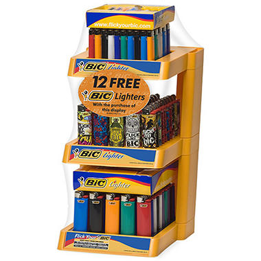 BIC 3-Tier Display +12 Free Lighters