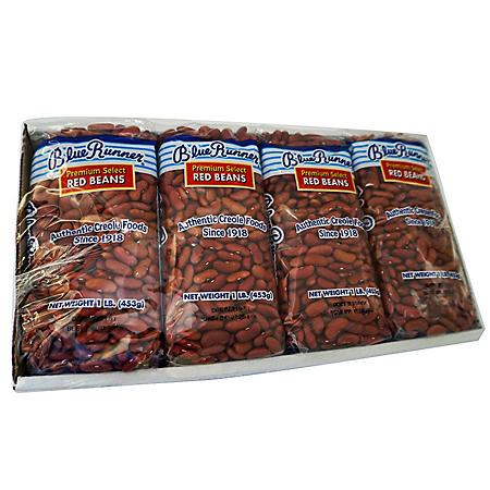 Blue Runner Dry Red Beans (1 lb., 4 pk.)
