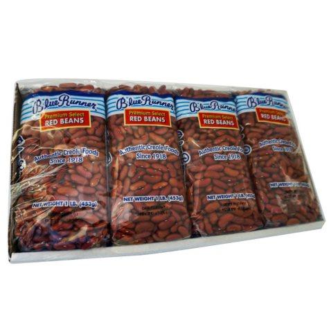 Blue Runner Dry Red Beans (1 lb. ea., 4 pk.)