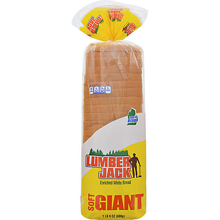 Lumber Jack Giant White Bread (24 oz., 2 pk.)