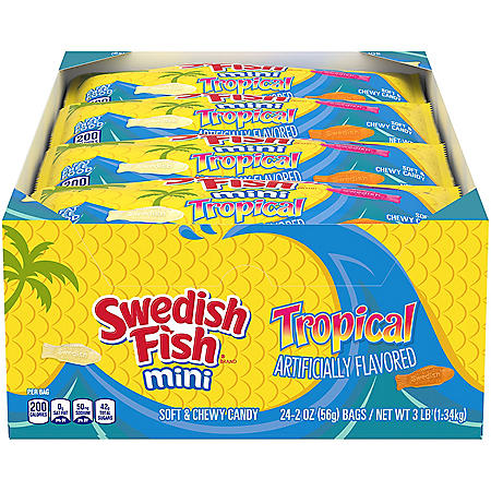 SWEDISH FISH Mini Tropical Soft & Chewy Candy (2 oz., 24 pk.)