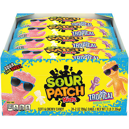 SOUR PATCH KIDS Tropical Soft & Chewy Candy (2 oz., 24 pk.)