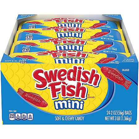 SWEDISH FISH Mini Soft and Chewy Candy (2 oz., 24 pk.)