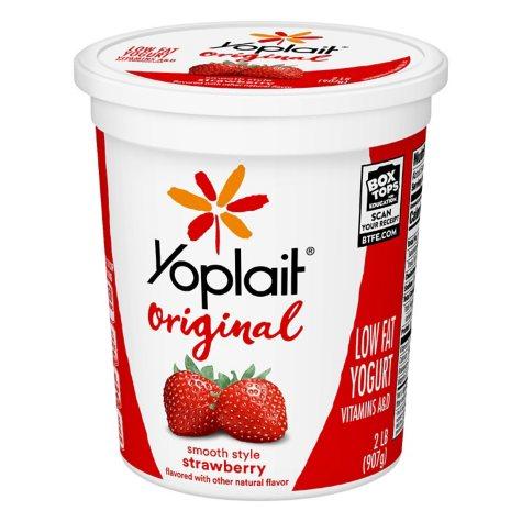 Yoplait Original Smooth Style Strawberry Flavored Low Fat Yogurt (2 lbs.)