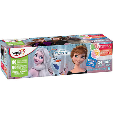 Yoplait Paw Patrol Yogurt, Strawberry and Strawberry Banana  (4 oz. cups, 24 pk.)