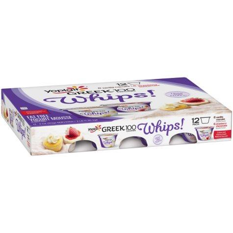 Yoplait Greek Whips! Vanilla Cupcake/Strawberry Cheesecake Yogurt Variety Pack ( 4 oz., 12 pk.)