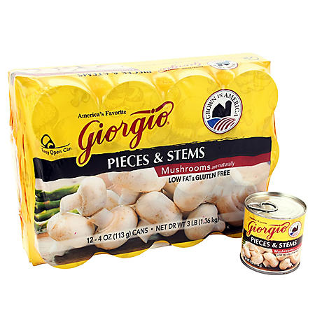 Giorgio Mushroom Pieces and Stems (4 oz., 12 ct.)