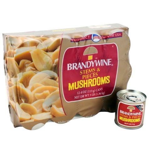 Brandywine Stems & Pieces Mushrooms (12 pk., 4 oz. ea.)