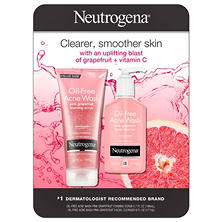 Neutrogena Oil-Free Acne Wash Variety Pack, Pink Grapefruit (6.7 fl. oz. Scrub & 6 fl. oz. Cleanser)