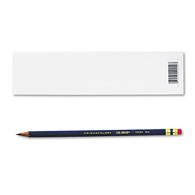 Prismacolor Col-Erase Pencil with Eraser, Blue - 12 Pencils