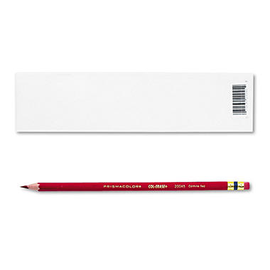 Prismacolor Col-Erase Pencil with Eraser, Carmine Red - 12 Pencils
