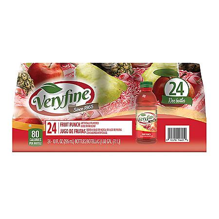 Veryfine Fruit Punch Juice Drink Blend (10 oz. bottles / 24 ct.)
