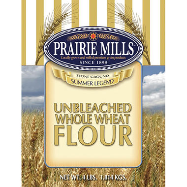 Prairie Mills Whole Wheat Flour - 6 pk. - 4 lb. each