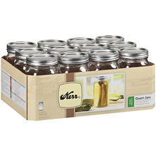 Kerr® Quart Wide Mouth Mason Jars - 32oz/12 ct.