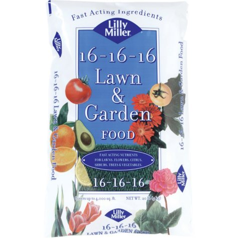 Lilly Miller Lawn & Garden Food All Purpose 16-16-16 (20 lbs.)