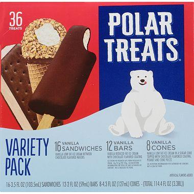 43564f6a5ba Polar Treats Ice Cream Novelties Variety Pack (36 ct.) - Sam s Club