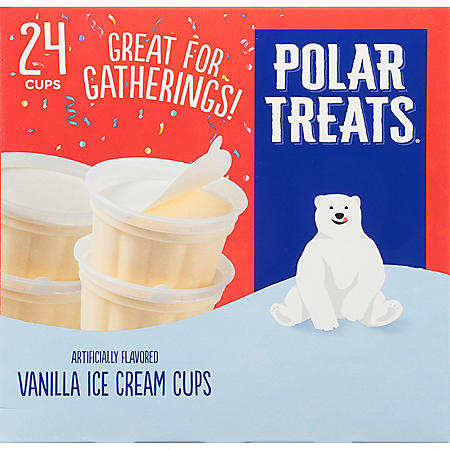 Polar Treats Vanilla Ice Cream, Single Serve Cups (24 ct.)