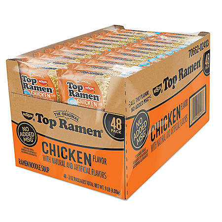Nissin Top Ramen, Chicken Flavor (3 oz., 48 ct.)