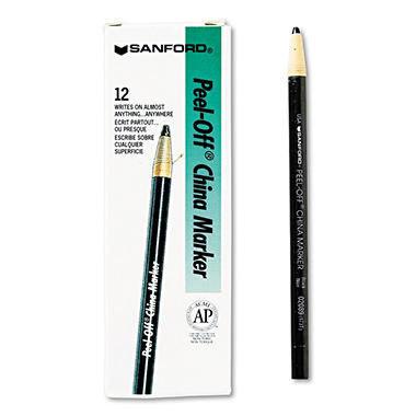 Sharpie Peel-off China Markers, Select Color (12 ct.)