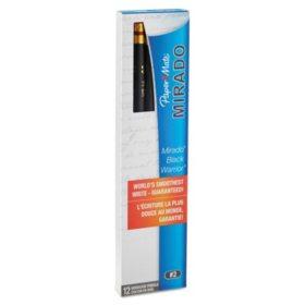 Paper Mate Mirado Black Warrior Woodcase Pencil, HB #2, Black Barrel, 12ct.