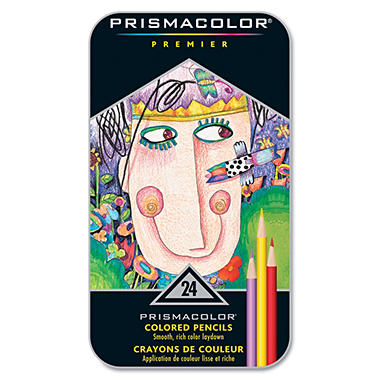 Prismacolor Premier Colored Woodcase Pencils, Assorted Colors, 24pk.