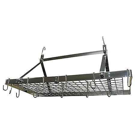 Range Kleen Rectangle Stainless-Steel Hanging Pot Rack