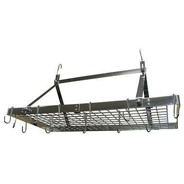 Rectangle Stainless Steel Hanging Cookware Storage Pot Rack