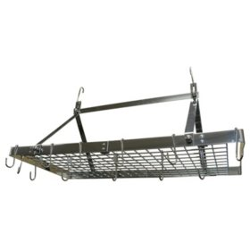 Range Kleen Rectangle Stainless-Steel Hanging Pot Rack - Sam's Club