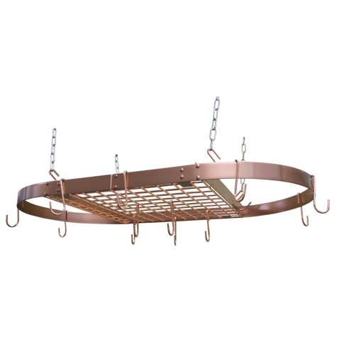 Range Kleen Oval Copper Hanging Pot Rack
