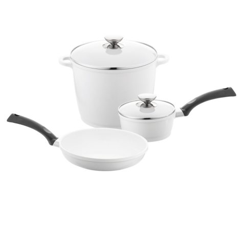 Berndes 5-Piece SignoCast Cookware Pan Set with Pearl Ceramic Coating