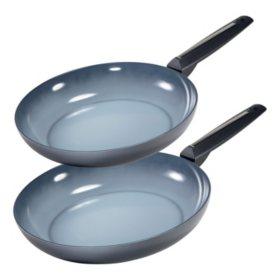 "Moneta Azul Gres Fry Pan Set with Ceramic Nonstick Coating (10"" and 11.5"")"
