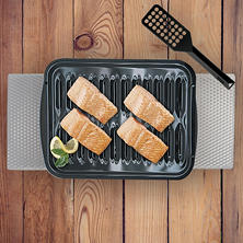 4-Piece Multi-Use Large and Small Heavy-Duty Porcelain Broiler Pan and Grill