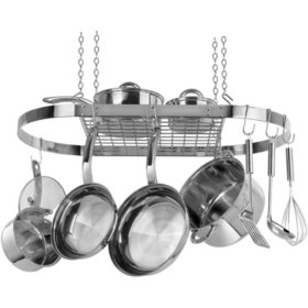 Range Kleen Stainless-Steel Oval Hanging Pot Rack