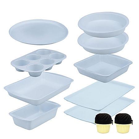 Range Kleen 9-Piece Ceramabake Bakeware Set